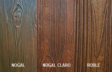 Colores vigas imitación madera de poliestireno